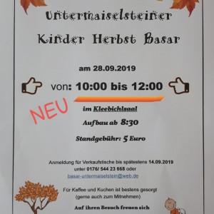 Selbstverkäuferbasar Rund um's Kind in Untermaiselstein @ Kleebichlsaal in Untermaiselstein